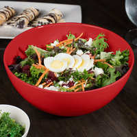 GET SZSB011R BambooServe 3.3 Qt. Round Bamboo Red Salad Bowl - 6/Case