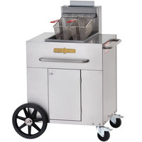 Crown Verity PF-1-NG 35-40 lb. Single Tank Portable Outdoor Fryer - Natural Gas