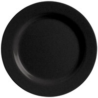 GET SZRP003B BambooServe 8 inch Round Bamboo Black Wide Rim Plate - 12/Case
