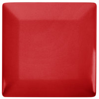 GET SZSP001R BambooServe 9 inch Square Bamboo Red Wide Rim Plate - 12/Case