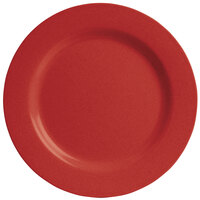 GET SZRP016R BambooServe 11 inch Round Bamboo Red Wide Rim Plate - 12/Case