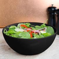 GET SZSB011B BambooServe 3.3 Qt. Round Bamboo Black Salad Bowl - 6/Case