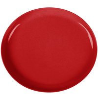 GET SZIP001R BambooServe 11 1/2 inch x 10 1/4 inch Oval Bamboo Red Incline Plate - 12/Case