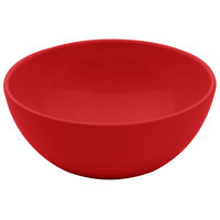 GET SZSB009R BambooServe 20 oz. Round Bamboo Red Salad Bowl - 24/Case