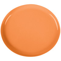 GET SZIP002O BambooServe 9 1/2 inch x 8 1/4 inch Oval Bamboo Orange Incline Plate   - 12/Case