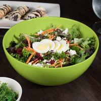 GET SZSB011G BambooServe 3.3 Qt. Round Bamboo Green Salad Bowl - 6/Case
