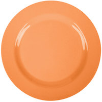 GET SZRP016O BambooServe 11 inch Round Bamboo Orange Wide Rim Plate - 12/Case