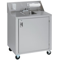 Crown Verity CV-PHS-4C Space Saver Single Bowl Cold Water Portable Hand Sink Cart