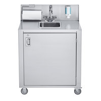 Crown Verity CV-PHS-1C Single Bowl Cold Water Portable Hand Sink Cart