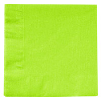 Creative Converting 803123B Fresh Lime Green 2-Ply Beverage Napkin - 50/Pack
