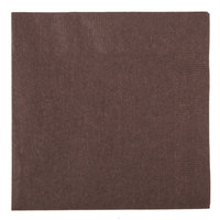 Creative Converting 803038B Chocolate Brown 2-Ply Beverage Napkin   - 50/Pack