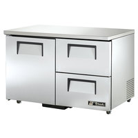 True TUC-48D-2-ADA 48 inch ADA Height Undercounter Refrigerator with One Door and Two Drawers