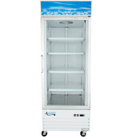 Avantco GDC24F 31 1/8 inch White Swing Glass Door Merchandising Freezer with LED Lighting