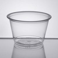 Choice 4 oz. Clear Plastic Souffle Cup / Portion Cup - 2500/Case