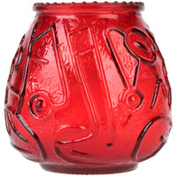 Sterno Products 40128 4 1/8 inch Red Venetian Candle - 12/Pack