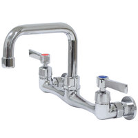 Advance Tabco K-160 6 inch Wall Mounted D-Style Extended Spout Swivel Faucet with 8 inch Centers and Lever Handles