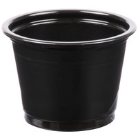Choice 1 oz. Black Plastic Souffle Cup / Portion Cup - 2500/Case