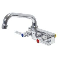 Advance Tabco K-126 10 inch Wall Mounted Swing Spout Swivel Faucet with 4 inch Centers and Lever Handles