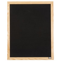 Aarco 30 inch x 24 inch Black Felt Open Face Vertical Indoor Message Board with Solid Oak Wood Frame and 3/4 inch Letters