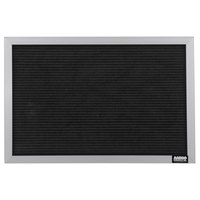 Aarco 12 inch x 18 inch Black Felt Open Face Horizontal Indoor Message Board with Aluminum Frame and 3/4 inch Letters