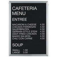 Aarco 36 inch x 24 inch Black Felt Open Face Vertical Indoor Message Board with Aluminum Frame and 3/4 inch Letters