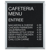Aarco 30 inch x 24 inch Black Felt Open Face Vertical Indoor Message Board with Aluminum Frame and 3/4 inch Letters
