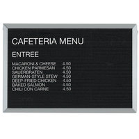 Aarco 24 inch x 36 inch Black Felt Open Face Horizontal Indoor Message Board with Aluminum Frame and 3/4 inch Letters