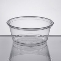 Choice 3.25 oz. Clear Plastic Souffle Cup / Portion Cup - 100/Pack