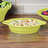 Homer Laughlin 587332 Fiesta Lemongrass 17 oz. Oval Baker - 4/Case