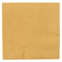 Creative Converting 663276B Glittering Gold 2-Ply 1/4 Fold Luncheon Napkin - 50/Pack