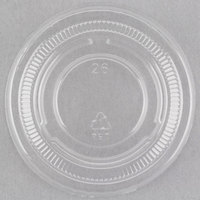 Choice PET Plastic Lid for 0.5 to 1.25 oz. Souffle Cup / Portion Cup   - 100/Pack