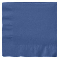 Creative Converting 6691137B Navy 2-Ply 1/4 Fold Luncheon Napkin - 50 / Pack