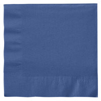 Creative Converting 6691137B Navy Blue 2-Ply 1/4 Fold Luncheon Napkin - 50/Pack