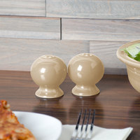 Homer Laughlin 497330 Fiesta Ivory China Salt and Pepper Shaker Set - 4/Case