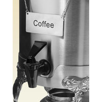 Coffee Chafer Name Plate - Coffee
