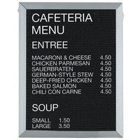 Aarco 24 inch x 18 inch Black Felt Open Face Vertical Indoor Message Board with Aluminum Frame and 3/4 inch Letters
