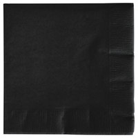 Creative Converting 57134B Black Velvet 3-Ply Beverage Napkin - 50/Pack