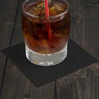 Creative Converting 57134B Black Velvet 3-Ply Beverage Napkin - 50/Pack