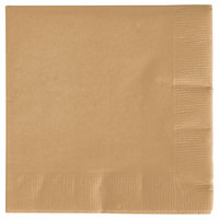 Creative Converting 573276B Glittering Gold 3-Ply Beverage Napkin - 50/Pack