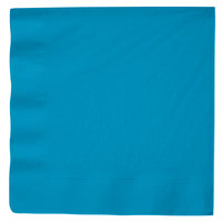 Turquoise Blue 3-Ply Dinner Napkin, Paper - Creative Converting 593131B - 25/Pack