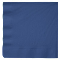 Creative Converting 591137B Navy Blue 3-Ply Paper Dinner Napkin - 25/Pack