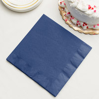Navy Blue 3-Ply Dinner Napkin, Paper - Creative Converting 591137B - 25/Pack
