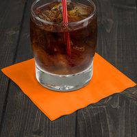 Creative Converting 57191B Sunkissed Orange 3-Ply Beverage Napkin - 50/Pack