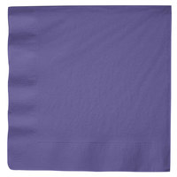 Purple Paper Dinner Napkin, 3-Ply - Creative Converting 59115B - 25/Pack