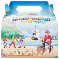 Southern Champion 2793 6 7/16 inch x 4 inch x 3 3/4 inch Kids Take-Out Meal Box with Pirate Design - 96/Case