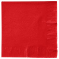 Creative Converting 571031B Classic Red 3-Ply Beverage Napkin - 50/Pack