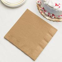 Glittering Gold 3-Ply Dinner Napkin, Paper - Creative Converting 593276B - 25/Pack