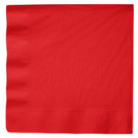 Classic Red 3-Ply Dinner Napkin, Paper - Creative Converting 591031B - 25/Pack