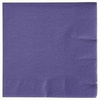 Creative Converting 57115B Purple 3-Ply Beverage Napkin - 50/Pack