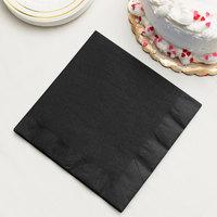 Black Velvet 3-Ply Dinner Napkin, Paper - Creative Converting 59134B - 25/Pack